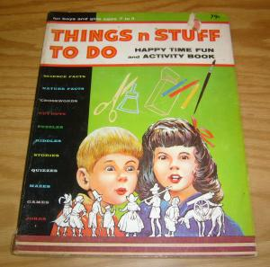 Things n Stuff to Do: Happy Time Fun and Activity Book VG mazes - jokes - puzzle