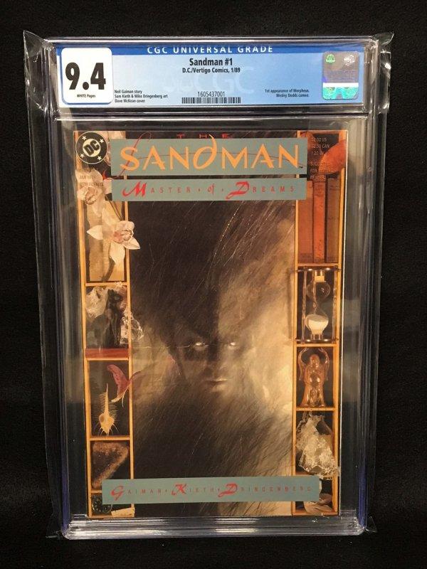 Sandman #1 (DC/Vertigo Comics, 1989) CGC 9.4 - 1st Morpheus