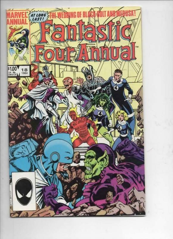 FANTASTIC FOUR #18 Annual, VF/NM, InHumans Wedding, 1961 1984, Marvel