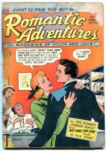 Romantic Adventures #7 1950- Rare Golden Age comic POOR