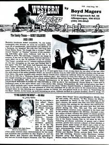 Western Clippings #30 1999-B-Wesrern movie fanzine-Rory Calhoun-FN