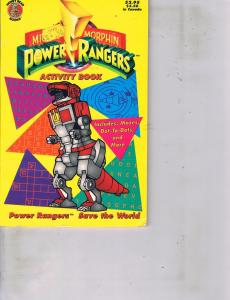 Mighty Morphin Power Rangers Activity Book Honey Bear Books Maze Dot To Dot DC6