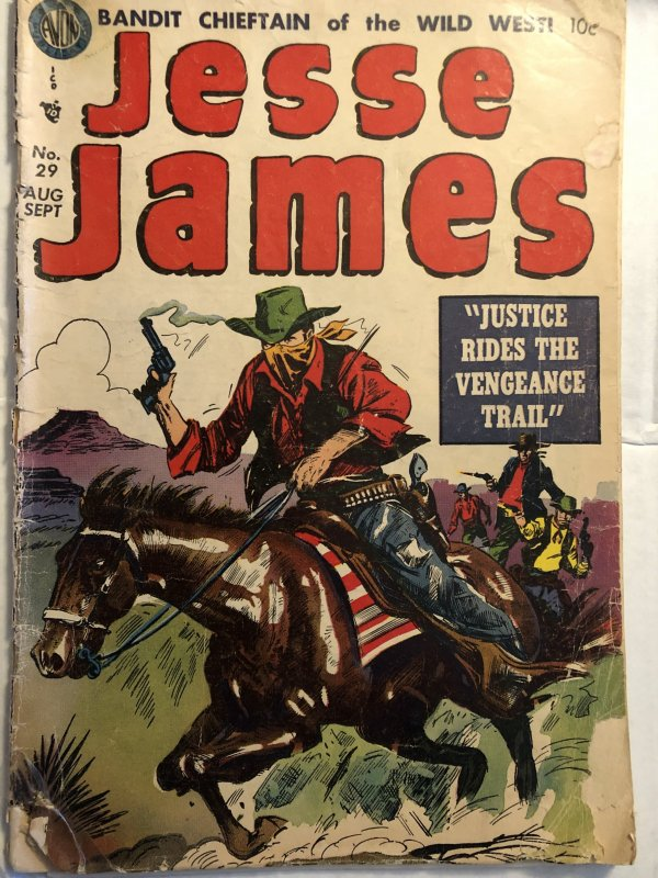 Jesse James #29,GD, Smokin' gun, a fast horse...outlaw tales