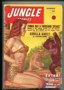 JUNGLE STORIES-SUMMER 1948-SPICY BOUND BABE-KI-GOR-1ST APPEARANCE REPRINT-vg