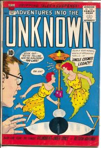Adventures Into The Unknown #122 1960-ACG-mystery-horror-Ogden Whitney-FN-