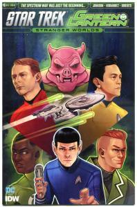 STAR TREK GREEN LANTERN #6 C, NM, Spock, Kirk, War, 2016,Variant,Stranger Worlds