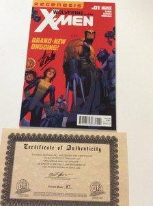 WOLVERINE & THE X-MEN REGENESIS #1 SIGNED BY STAN LEE W/COA LTD.TO 100 COPIES.