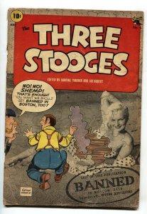 Three Stooges #6 1954- Partial photo cvr-Horror- St John Golden Age