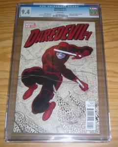 Daredevil #1 CGC 9.4 mark waid - paolo rivera - marvel comics - 2011 great cover