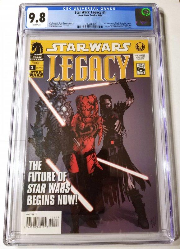 Star Wars: Legacy #1 CGC 9.8 White Pages 1st Cade Skywalker, Darth Krayt