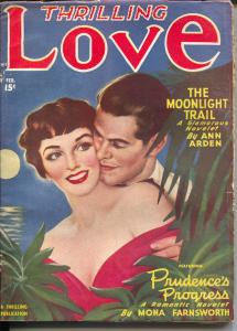 Thrilling Love 2/1950-Moonlight Trail-spicy cover-FN