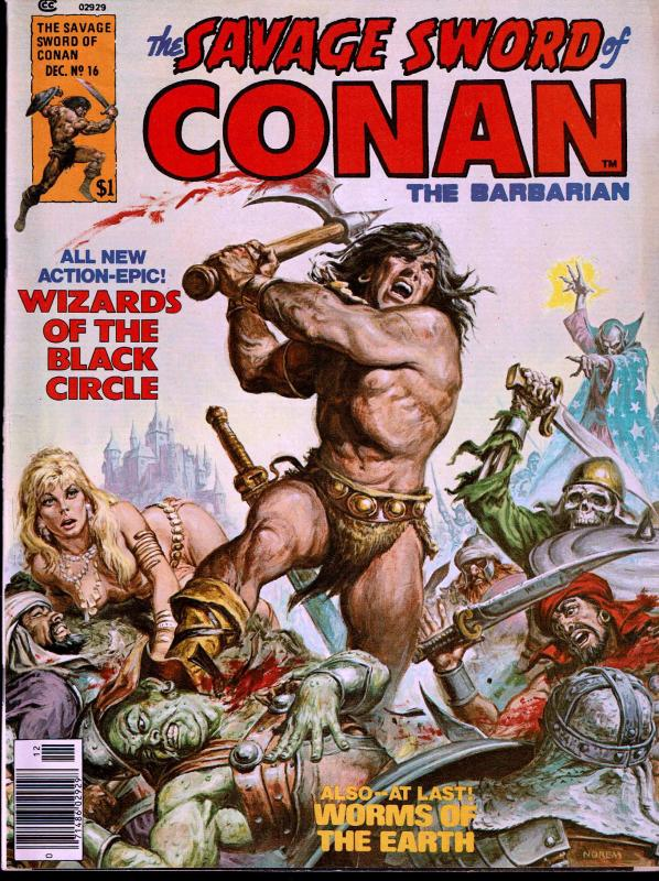 Savage Sword of Conan #16 - Early Conan Magazine - 5.0 or Better