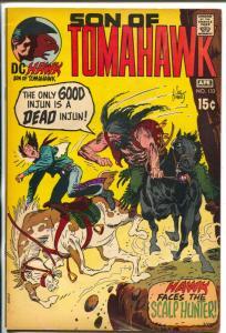 Tomahawk  #133 1970-DC-Son of Tomahawk-Kubert-Scalp Hunter-FN/VF