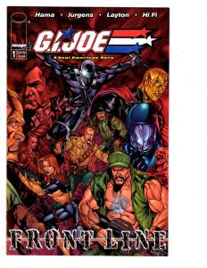 5 GIJoe Frontline Image Comic Books #1 2 3 4 5 Hama Jurgens Cobra Snake Eyes MS7