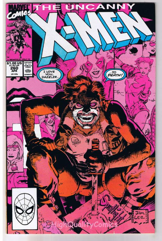 X-MEN #260, VF/NM, Wolverine, Jim Lee, Claremont, Uncanny, more in store