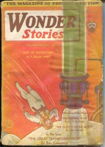 Wonder Stories 2/1931-Gernsback-Frank A Paul-original pulp size issue-G/VG