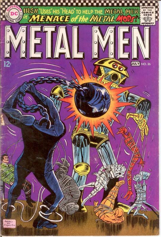 METAL MEN 26 G-VG July 1967 COMICS BOOK