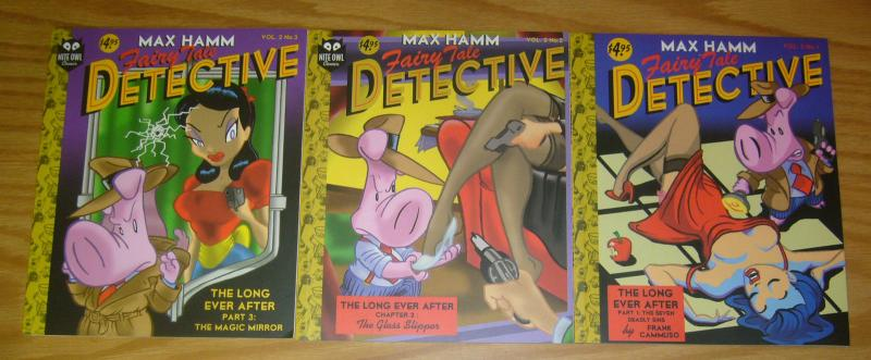 Max Hamm, Fairy Tale Detective vol. 2 #1-3 VF/NM complete series - frank cammuso