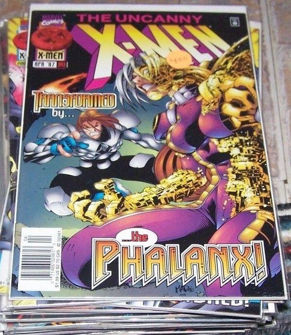 Uncanny X-Men #343 (Apr 1997, Marvel) shr'iar phalanx transmode virus