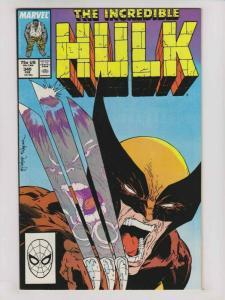 Incredible Hulk #340 VF- peter david - todd mcfarlane - wolverine - 1st print