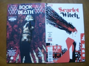 4 Near-Mint Comic: Valiant BOOK OF DEATH #4 (2015) & Marvel SCARLET WITCH #7