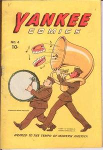 YANKEE COMICS (1941 CHESLER) 4 VG-F IMA SLOOTH BY JACK