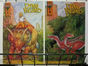 DINO ISLAND (1993 MI) 1-2 Dinosaurs R us complete story