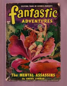 FANTASTIC ADVENTURES-MAY 1950-PULP-JOHN D MacDONALD     VG