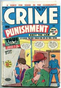 CRIME & PUNISHMENT #9 1948-CHARLES BIRO-LEV GLEASON-PRE G/VG
