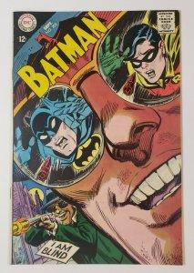 Batman #205 Blind As A Bat! DC Comics Silver Age 1968 Batman, Robin VF+