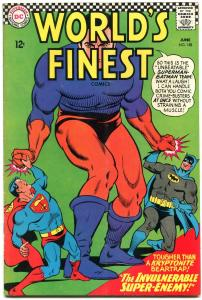 WORLDS FINEST #158 1966-DC COMICS-BATMAN-SUPERMAN VG