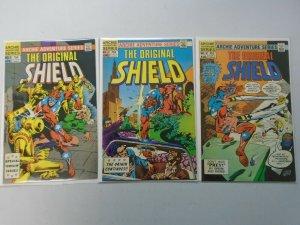 The Original Shield run #1-3 8.0 VF (1984 Archie Comics)