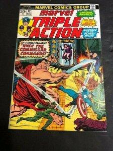 MARVEL The Avengers TRIPLE ACTION #12 Cpt. America, HULK, Hawkeye FINE- (608JA)