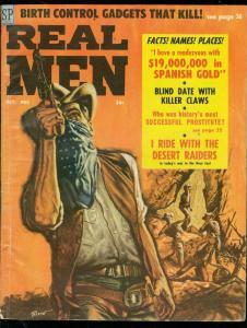 REAL MEN-OCT 1958-CHEESECAKE-VIC PREZIO WESTERN COVER VG