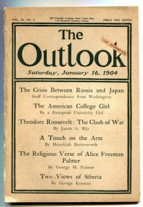 Outlook 1/16/1904- American College Girl- Roosevelt VG