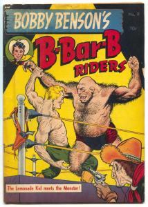 Bobby Benson's B-Bar-B Riders #9 1951- Frazetta cover- VG-