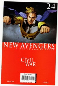 NEW AVENGERS #24 (VF) Civil War 1¢ auction! No Reserve!