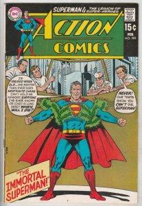 Action Comics #385 (Feb-70) VF/NM High-Grade Superman, Superboy