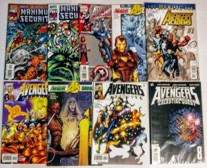Avengers Comic Book Lot of (9) Mixed Titles Marvel Comics CL90/03