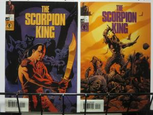 SCORPION KING (2002 DH) 1-2(art covers) THE ROCK!