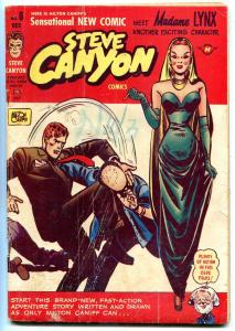 STEVE CANYON #6 1948-HARVEY-MILTON CANIFF-MADAME LYNX VG
