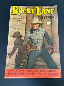 Rocky Lane Western 1 VG (Fawcett May 1949)