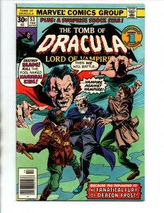 Tomb of Dracula #53 newsstand - Blade - Hannibal - Horror - Vampire - 1977 - VF
