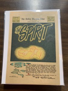 The Spirit Comic Book Section Newspaper Very Fine Or Better 1942 February 1