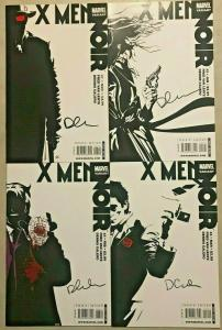 X-MEN NOIR#1-4 NM LOT 2009 VARIANT EDITION SIGNED BY DENNIS CALERO MARVEL COMICS
