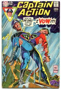 CAPTAIN ACTION #3-GIL KANE COVER ART-DC VG