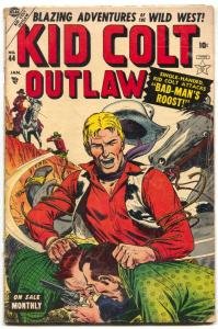 Kid Colt Outlaw #44 1955- Black Rider- Atlas Western VG