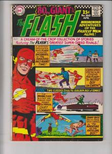 Flash #160 FN- silver age dc comics 1966 - 80 PAGE GIANT (G-21) johnny quick