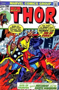 Thor #208 VG; Marvel   low grade comic - save on shipping - details inside