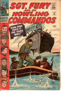 SERGEANT FURY 26 VG Jan. 1966 COMICS BOOK